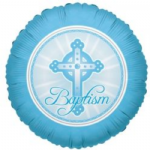 "BAPTISM BOY BALLOON  18""  17693"
